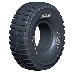 Large mining tires by HAIAN; Giant OTR tires for rigid dump trucks