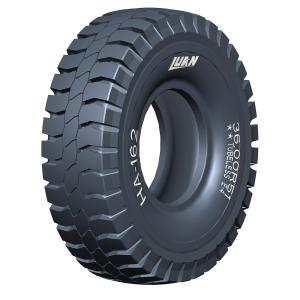 Giant earthmover tires; big tires for mining trucks