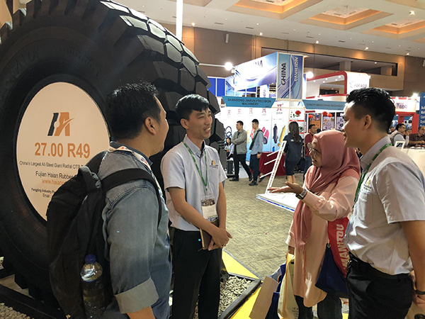 Luan Giant OTR Tires Showed in Mining Indonesia 2019