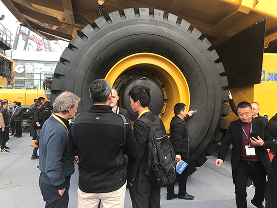 LUAN 46/90R57 OTR Tyres Selected to Equip with XCMG 240 Ton Truck for BAUMA Exhibition